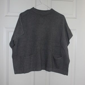 Zara Knitwear Fancy Collection Poncho Sweater